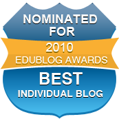 Edublog Awards Nomination for Best Individual Blog