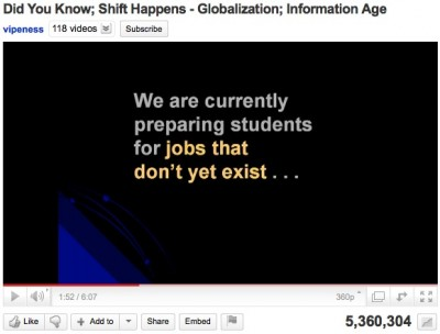 """Did You Know - Shift Happens ~ by Karl Fisch and modified by Scott McLeod"""