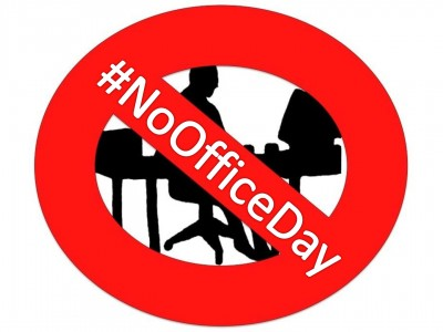 """No Office Day -with Hashtag"""