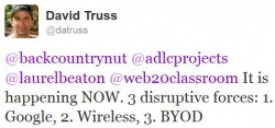Disruptive Forces Tweet
