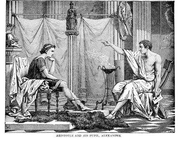 Alexander and pupil Aristotle
