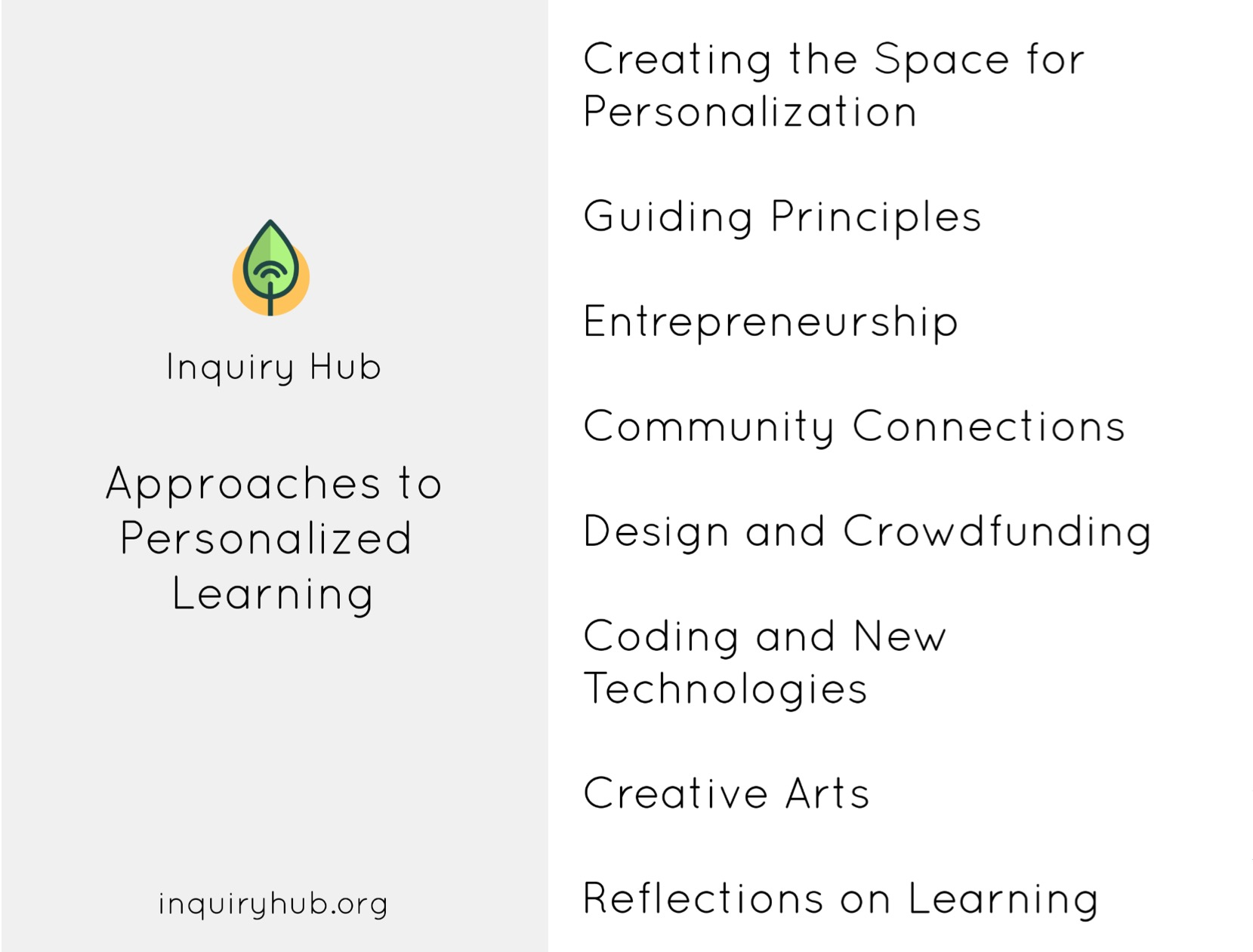 Inquiry Hub - Personalized Learning